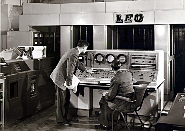 Alan Jacobs (standing) and Ernest Roberts at the II/I control Desk c 1958