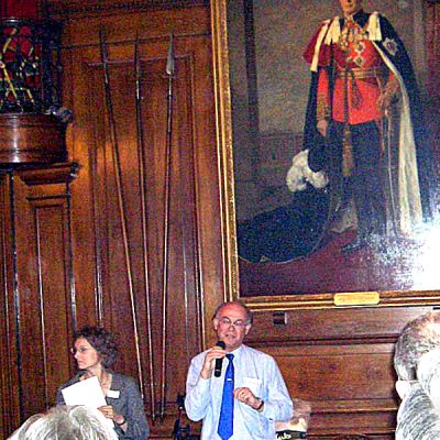 Peter Byford Introduces Georgina Ferry (overlooked by King George VI)